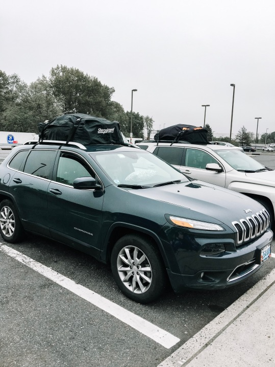 We were loaded down with two cargo bags on our cars!